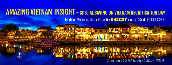 Vietnam Discovery Travel Special Promotion for April Reunification Day
